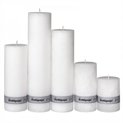Candle 25 cm white