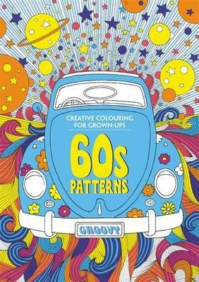 Colouring book for grown-ups, 60's patterns