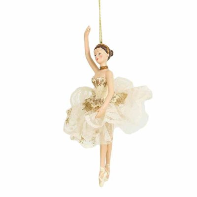 Ballerina ornament cream