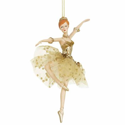 Ballerina ornament gold