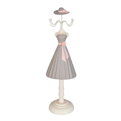 Jewelry stand dress grey