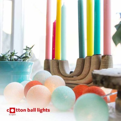 Cotton Ball light string cheer of the day 20 balls