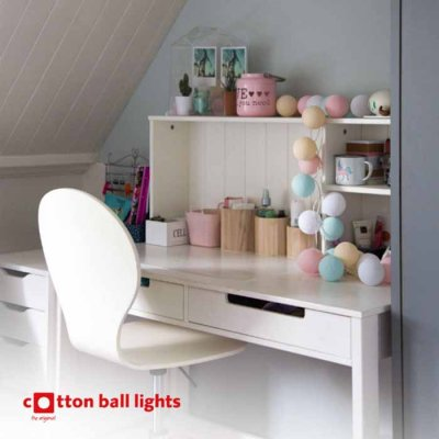 Cotton Ball light string charming 20 balls