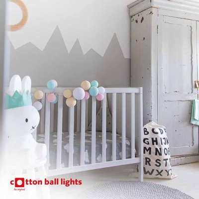 Cotton Ball string lights vaahtokarkki 20 balls