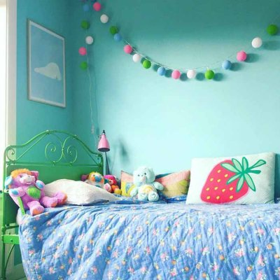 Cotton Ball light string playroom 20 balls