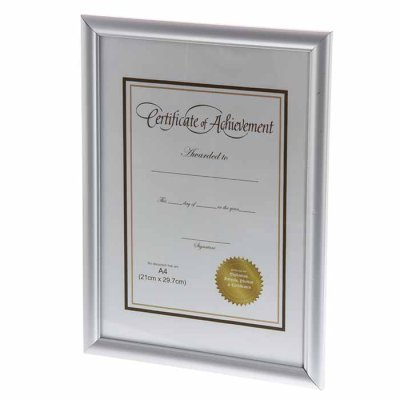 Picture frame for Certificate A4