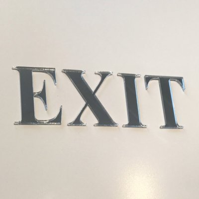 EXIT letters, mirror