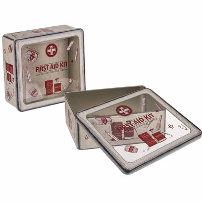 Metal-tin-box First Aid Kit