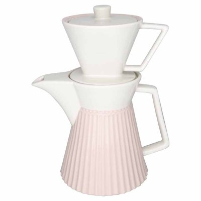 GreenGate Alice coffee pot pale pink