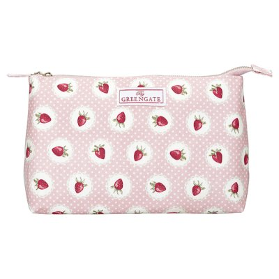 GreenGate Strawberry Cosmetic bag big
