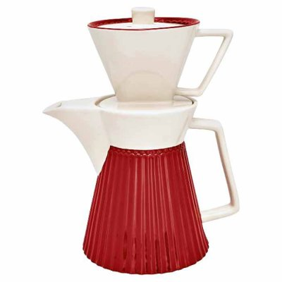 GreenGate Alice coffee pot red