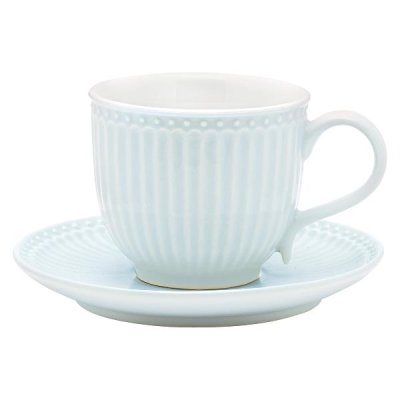 GreenGate Alice cup & saucer light blue