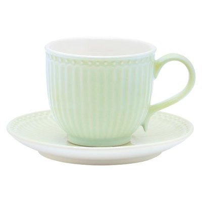 GreenGate Alice cup & saucer light green