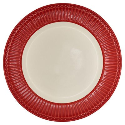 GreenGate Alice plate red