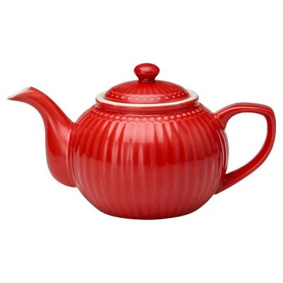 GreenGate Alice teapot red