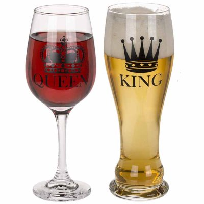 Gift set Queen & King glasses