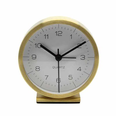 Alarm clock white/gold