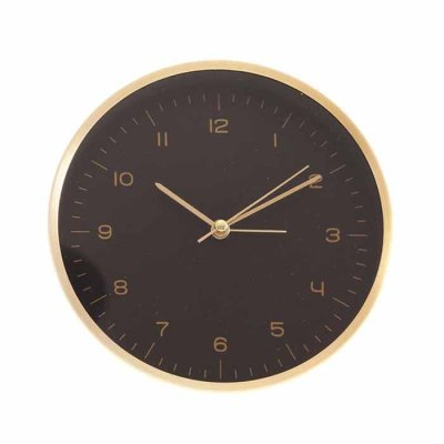 Alarm clock black/gold