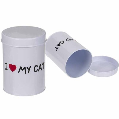 Metal tin box I Love My Cat