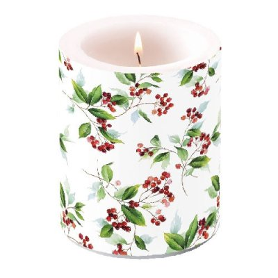 Candle Winter Foliage 12 cm