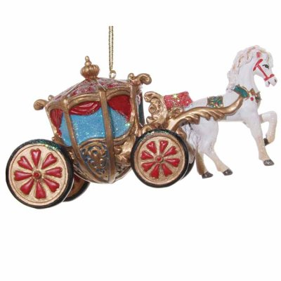 Christmas decoration Cinderella's carriage 12 cm