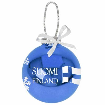 Suomi Finland christmas decoration 6,5 cm