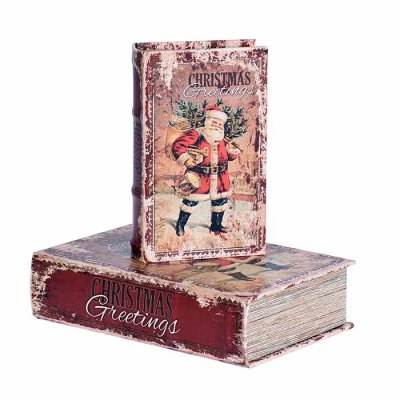 Box book shaped Christmas, different sizes