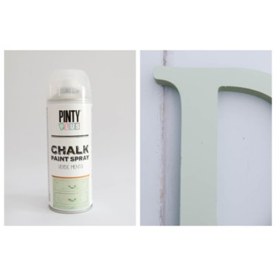 Chalk paint spray Mint green