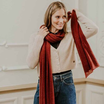 Cashmere Scarf Redwood