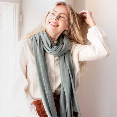 Cashmere Scarf Wave