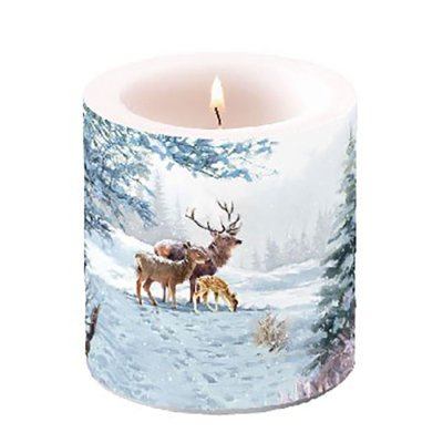 Candle Deer Family 10 cm