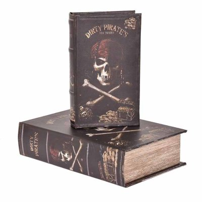 Box book shaped Pirates, different sizes