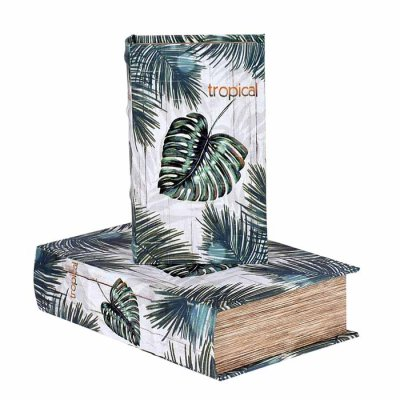 Box book shaped Tropical, different sizes