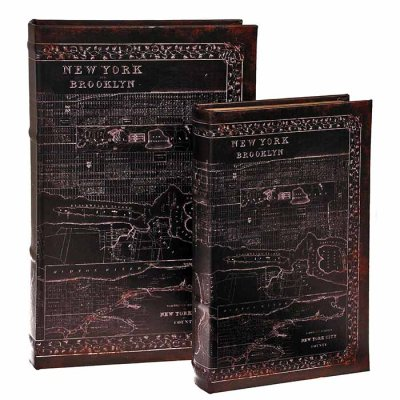 Box book shaped New York, different sizes