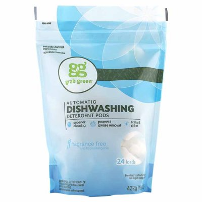 Dishwashing detergent pods fragrance free