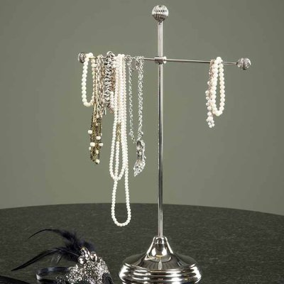 Jewelry stand silver 44 cm