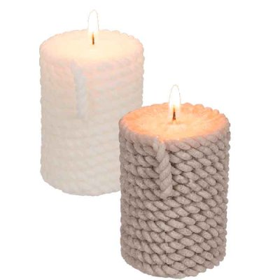 Candle 8 cm rope