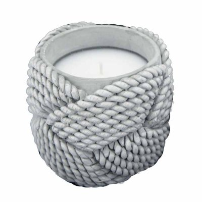 Rope Candle 10 cm grey