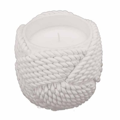 Rope Candle 10 cm white