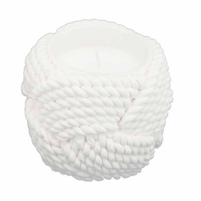 Rope Candle 7,5 cm white
