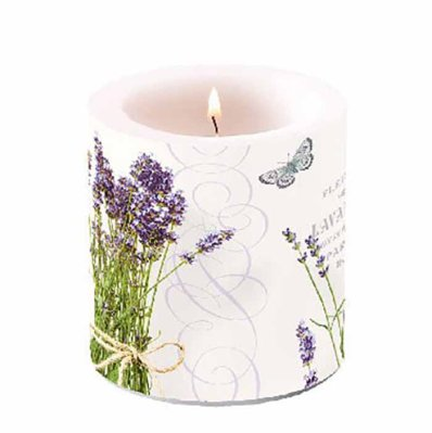 Candle Bunch Of Lavender 10 cm