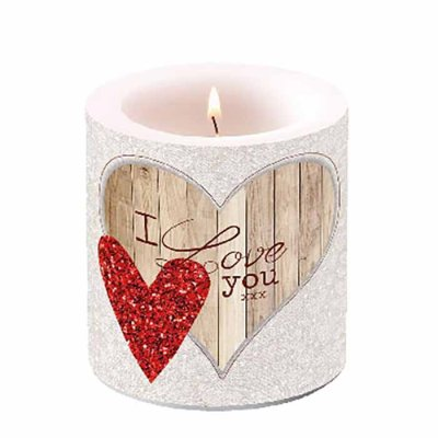 Candle I Love you 10 cm