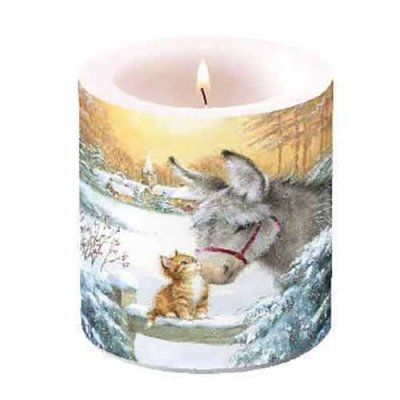 Candle Donkey and kitten 10 cm