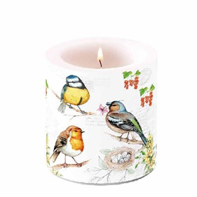 Candle Small birds 10 cm