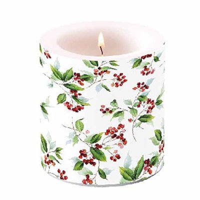 Candle Winter Foliage 10 cm