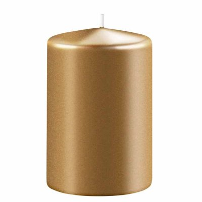 Candle 10 cm gold