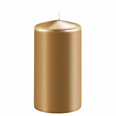 Candle 12 cm gold