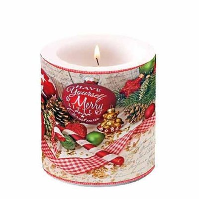 Candle Merry Little Christmas 10 cm