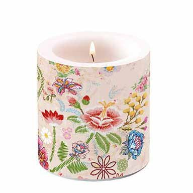 Candle Embroidery Flowers  10 cm