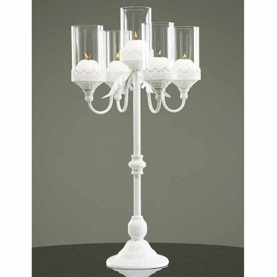 Candle holder Royal 75 cm white